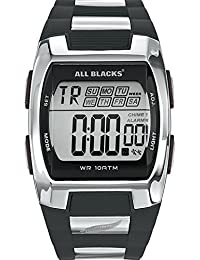 All Blacks - 680023 - Montre Homme - Quartz Digital - Cadran Noir - Bracelet Plastique Noir