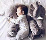 MFEIR® Baby Elefant Kissen gefüllt Plüsch Kissen Lange Nase Tier Schlafen Kissen Kinder schlafen Spielzeug,Grau 60cm