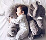 MFEIR® Elephant Children's Sleep Stuffed Soft Plush Cushion Animal Plush Toys ,Gray 60cm