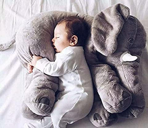 MFEIR® Elephant Children's Sleep Stuffed Soft Plush Cushion Animal Plush Toys ,Gray 60cm