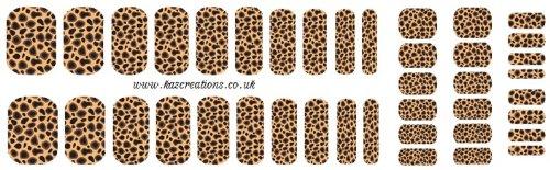Cheetah Nail Wrap Shield Adulte et enfant Tailles
