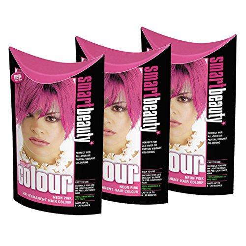 smart-farbe-semi-permanenten-neon-pink-hair-dye-x-3