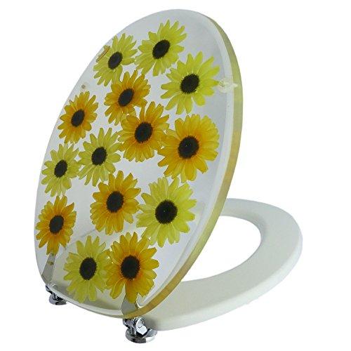Toilettensitz /Wc Deckel / Toilettendeckel / Klobrille Top Qualität Sonnenblumen gelb
