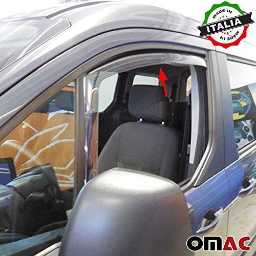 Omac GmbH Für Tourneo Connect Windabweiser Regenabweiser 2 TLG Satz vorne ab 2014