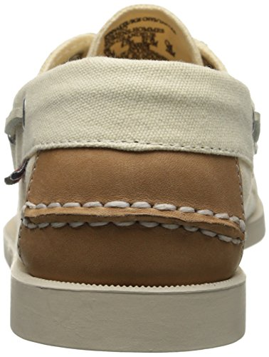 Bootsschuhe Canvas Leather Herren Tan Biege Sebago SPINNAKER 1PnEOqnv