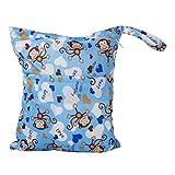 Wiederverwendbar Waschbar Windel Beutel Baby Tuch Wasserdicht Wickeltasche mit zwei Reißverschluss