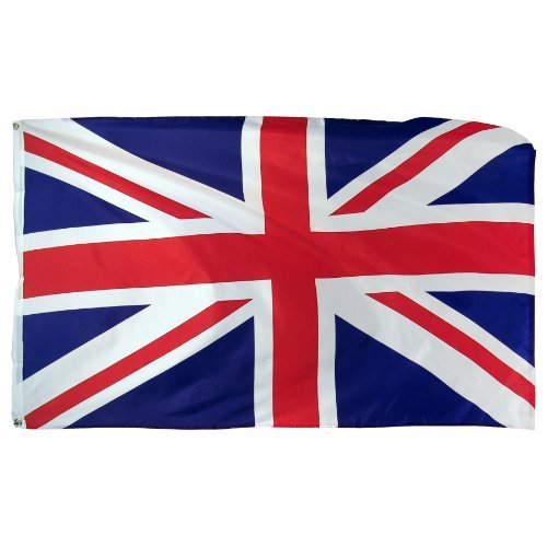 Online Stores United Kingdom Printed Polyester Flag, 3 by 5-Feet by Online Stores