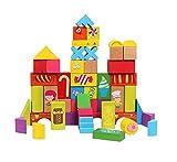 Colorful 52 PCS large block wooden Build...