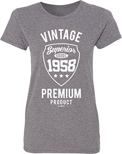 a00e762d6 60th Birthday Gifts Vintage Premium 1958 T-Shirt Womens Grey - 60th  Birthday Presents - Buy Online in Oman. | Apparel Products in Oman - See  Prices, ...