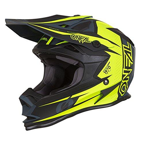 O'Neal 7Series Strain Motocross Helm MX Offroad Enduro Quad Cross Trail Motorrad, 0583, Farbe Neon Gelb, Größe M