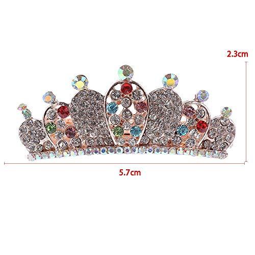 Pfau Erstellen Kostüm Ein - LKJH Haarspange Frauen-Volle Kristallhaarnadeln-Herz-Pfau-Prinzessin Barrette Headwear Styling, 04 Crown
