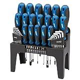 Draper 81294 Driver Set Plus Stand - Blue (44-Piece)