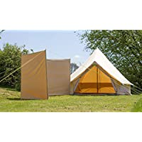 100% Cotton Canvas Windbreak only 4 steel poles With guys Bell Tent Windbreak Camping Windbreak 4