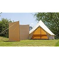 100% Cotton Canvas Windbreak only 4 steel poles With guys Bell Tent Windbreak Camping Windbreak 1