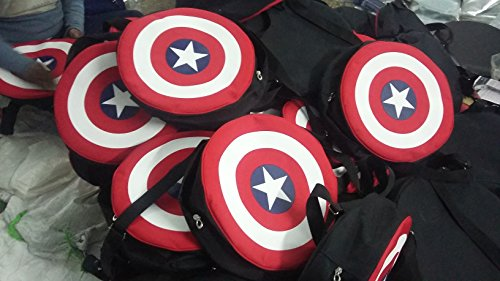 Best boys backpack in India 2020 Auxter Red Polyester 20L Avengers Captain America Shield School Backpack Image 8