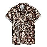 Hemd Herren Leoparden Muster Karneval Party Hawaiishirt Brasilien Oberteile Kurzarm Hemden Hawaiihemd Sommer Freizeithemd Casual Hawaii T Shirts ModeUrlaub Strand Top Kurzarmhemd Oberteil