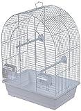 Duvo+ 493/133 Cage à Oiseau Blanc avec Accessoire pour Oiseau