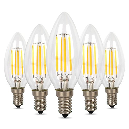 Albrillo 4W E14 LED Lampe ersetzt 30W, warmweiß (2700 Kelvin), 300 Lumen, 360° Abstrahwinkel, 5er Pack