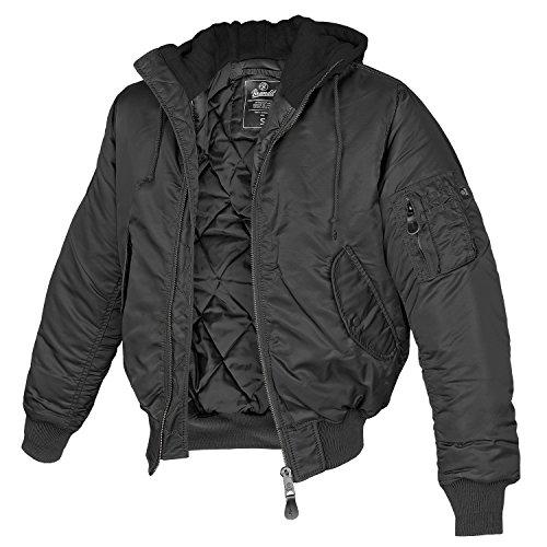 Brandit MA1 Sweathood Jacke schwarz L