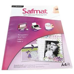 Letraset Safmat Self-Adhesive Printing Film A4 (10 Sheets)