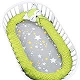 Lenzuolo da letto 330 cm per culla, culla o culla per bambini Culla paracolpi per paraurti Culla paraurti Culla paraurti All Seasons Universal (colore : Verde)