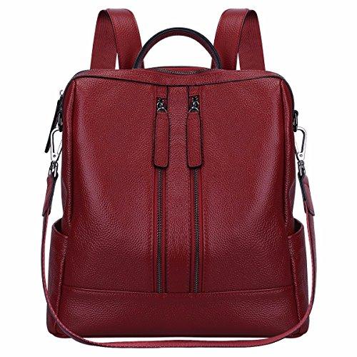 Gxinyanlong Fashion Leder Rucksack Schultertasche Mini Rucksack für Frauen, Rose