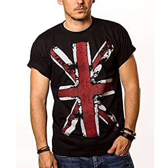 Great Britain Flag T-Shirt UNITED KINGDOM - UNION JACK Vintage Black S