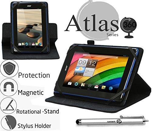 Navitech 7 Zoll schwarzes Case / Cover mit 360 Rotierbare Stand Funktion und Stylus Stift für das HP 7 Plus 1301 / HP Slate 7 HD / HP Slate 7 / HP Slate 7 Plus HD / HP Slate 7 VoiceTab