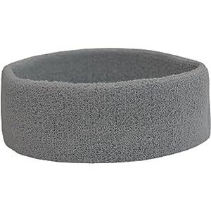 Terry Headband – Frottee Stirnband für Sport & Freizeit Farbe Grau