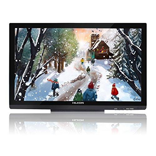 Huion GT-220V2 Schwarz Grafiktablet mit Display 21.5 Inch Interaktive Zeichnung Monitor Display IPS Panel HD Auflösung (1920x1080)