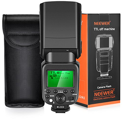 Neewer Flash Speedlite Esclavo Maestro Inalámbrico 2.4G HSS 1/8000s TTL GN58 para Sony A7 A7R A7S A7II A7RII A7SII A6000 A6300 A6500 A77II A58 A99 RX10 Cámaras con Difusor Duro(NW630)