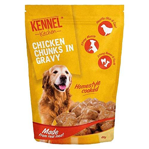 Kennel Kitchen Chicken Chunks in Gravy Dog Food - 100 gm (Pack of 15)