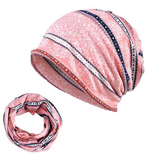 iKulilky Damen Baumwolle Daily Beanie Hut Turban Headwear Leichte Chemo Cap Kopftuch