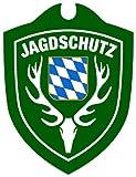 Waidmannsbruecke Erwachsene Jagdschutz Bayern Autoschild, Grün, One Size