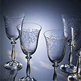 Kristall Bohemia Gläser-- Model Royal Panto -- 6 er Set -- mit Gravur (Weißweingläser 6 x 250 ml)