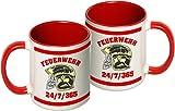 Tasse: MSA-Helm, 24/7/365 (beidseitig), two-tone-coffee-cup, rot