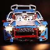 TETAKE Lumières LED Éclairage pour LEGO Technic 42077 - Voiture de rallye (Lego Modèle Non Incluse)