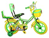 #10: NY Bikes Buzzer 14T Steel Kids Bicycle for 2 to 4 Years Kids (Green & Yellow)