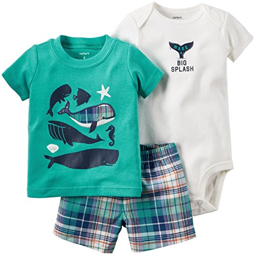 Carter's Baby Jungen Make a Big Splash 3-teiliges Set Gr. Baby, Teal/Ivory