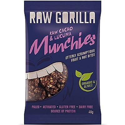 Raw Gorilla Cacao & Lucuma Munchies 40g (Pack of 10) by Raw Gorilla