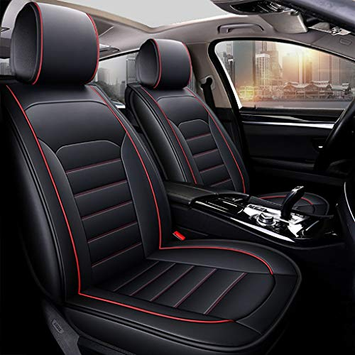 DaPeng Auto Sitzbezüge, Vorne Hinten 5 Sitz Voll Set Universal Leder Seasons Pad Kompatibel Airbag Seat Protectors Wasserdicht. (Color : Black red) - Für Einen Auto-sitzbezug Camry