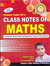Class Notes Of Maths(Handwritten Notes - Complete Arithmetic & Advanced Two in One Book)