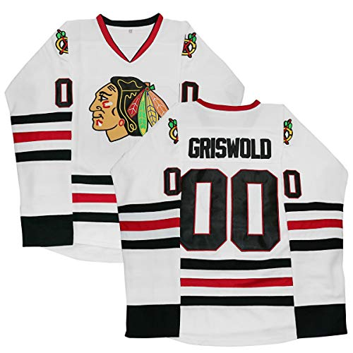d573b80a3bb Yeee JPEglN Clark Griswold Jersey,#00 X-Mas Christmas Vacation Movie Hockey  Jersey
