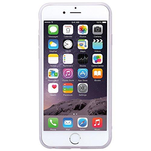 SMART LEGEND Cover iPhone 6 6s, iPhone 6 6s Case Silicone Cute Semi Trasparente Ultra Slim con Disegno Bella, Custodia Molto elegante e raffinato Soft Case Antiurto Protettivo Bumper Antigraffio Perfe Ippopotamo Blu