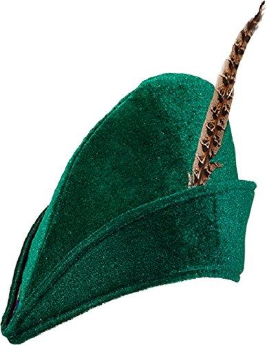 Filz Robin Hood mittelalterlich Bogenschütze TV Buch Film festival-spaß Kostüm Kleid Outfit Hut (Grün Mittelalterliches Kleid)