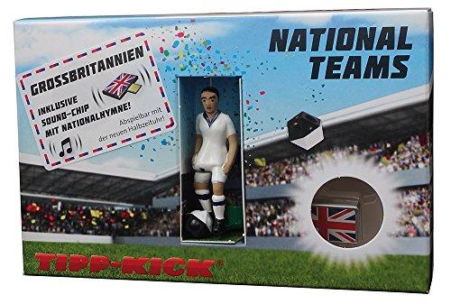 TIPP-KICK 031070 Star-Kicker England in Torwandbox mit Hymne, 11,5 x 3,5 x 18 cm
