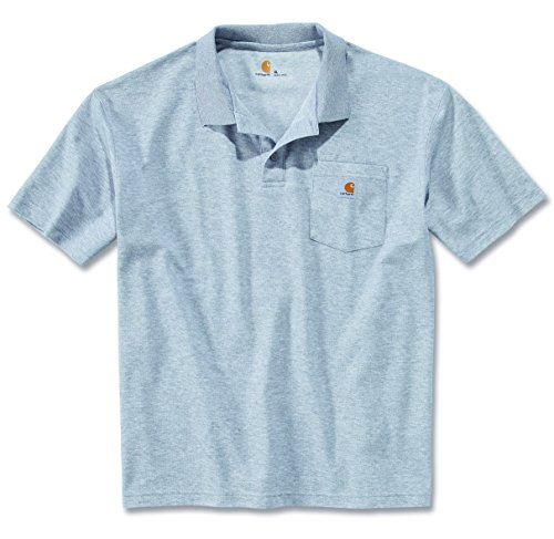 Carhartt Workwear T-Shirt Contractor´s Work Pocket Polo - Heather Grey (S) - Pocket Pique Polo-shirt