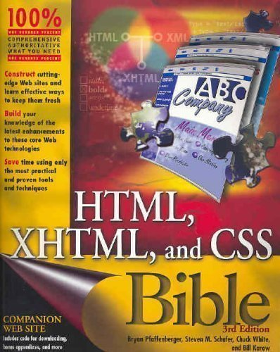 html-xhtml-and-css-bible-3rd-third-edition-by-pfaffenberger-bryan-schafer-steven-m-white-chuck-karo-