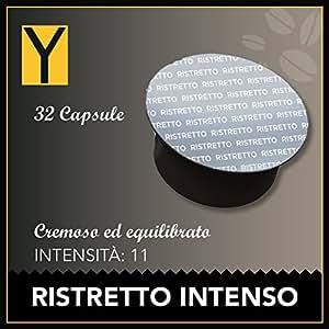 Yespresso Capsule Dolce Gusto Compatibili Intenso Ristretto - Confezione da 32 Pezzi