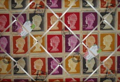 Grande prestigiosi Mulberry prima classe timbro a mano Crafted tessuto avviso/Pin/Memo Board - Avviso Stamp
